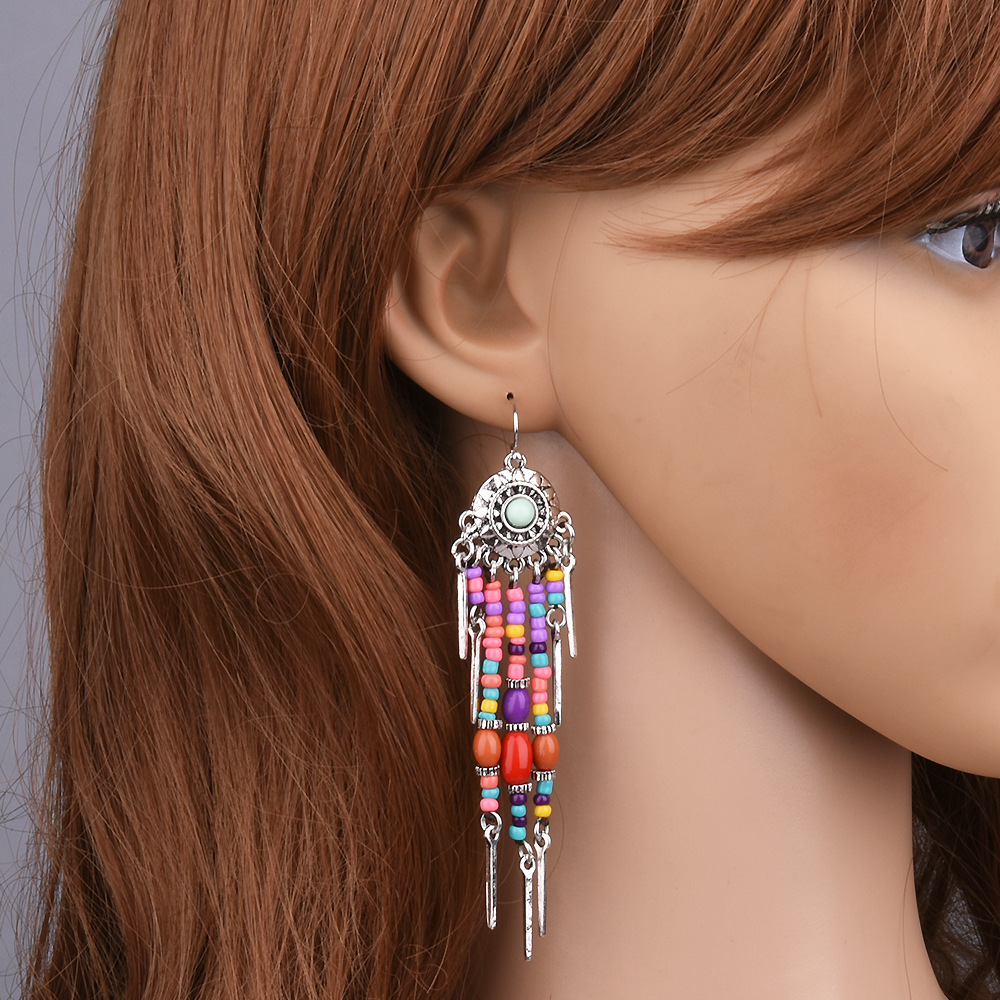 Retro alloy plating earring (color) NHVA3325
