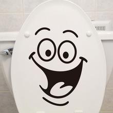 梵汐墙贴热卖SMILE 笑脸马桶贴卫生间装饰墙贴 外?#36710;?#33394;定制贴纸