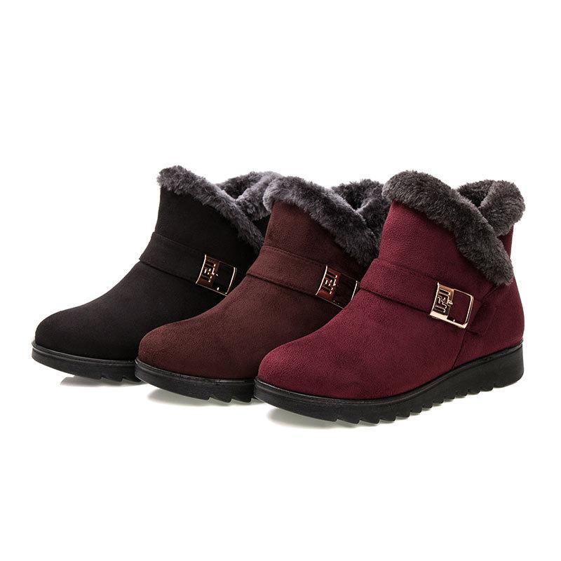 新款老北京布鞋女大码保暖棉靴中老年雪地靴女妈妈鞋棉鞋一件代发