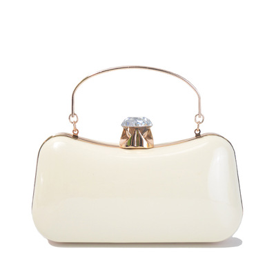 Patent leather handbag fashion wedding bridal party Europe and the United States popular portable evening bag's main photo