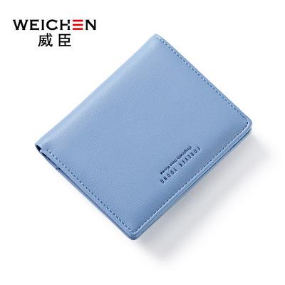 Bà Wei Chen ví 2018 đoạn ngắn mới của Hàn Quốc bảng chữ cái ví đa thẻ chút ví một thế hệ các chất béo