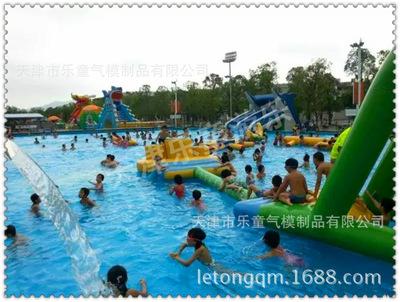 现货水滑梯龙头滑梯 大象滑梯水上乐园组合充气游泳池 厂家直销