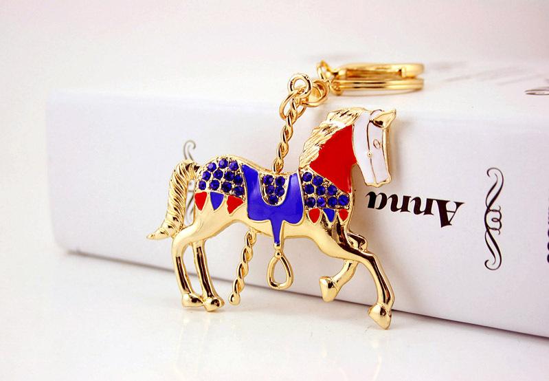 Creative cute cartoon carousel car keychain NHAK267059