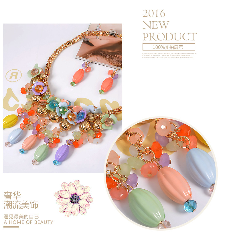 Exotic Plastic / resinnecklace (color) NHVA3728