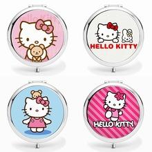 日韩卡通化妆镜 女生美容小礼品镜子 KT猫随身镜子 定制二维码