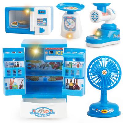 [Nhỏ duy nhất sản phẩm cao cấp] bán buôn mô phỏng mini chơi nhỏ thiết bị gia dụng điện chiếu sáng nhà bếp đồ chơi giáo dục
