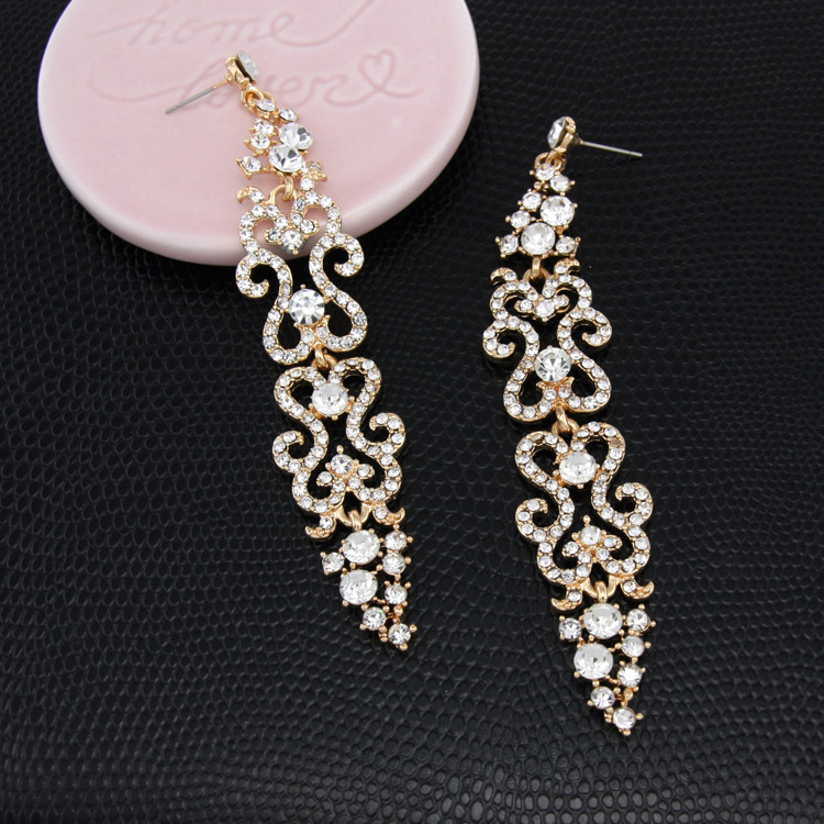 Alloy Fashion Tassel earring  (black)  Fashion Jewelry NHAS0616-black