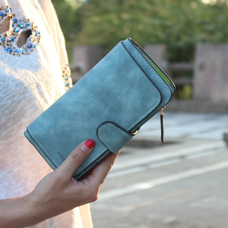 PU leather  Gradient frosting Wallets NI190420118427