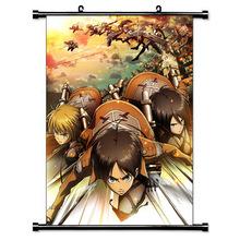 进击的巨人挂画 Shingeki no Kyojin动漫挂画 卷轴布画定制 批发