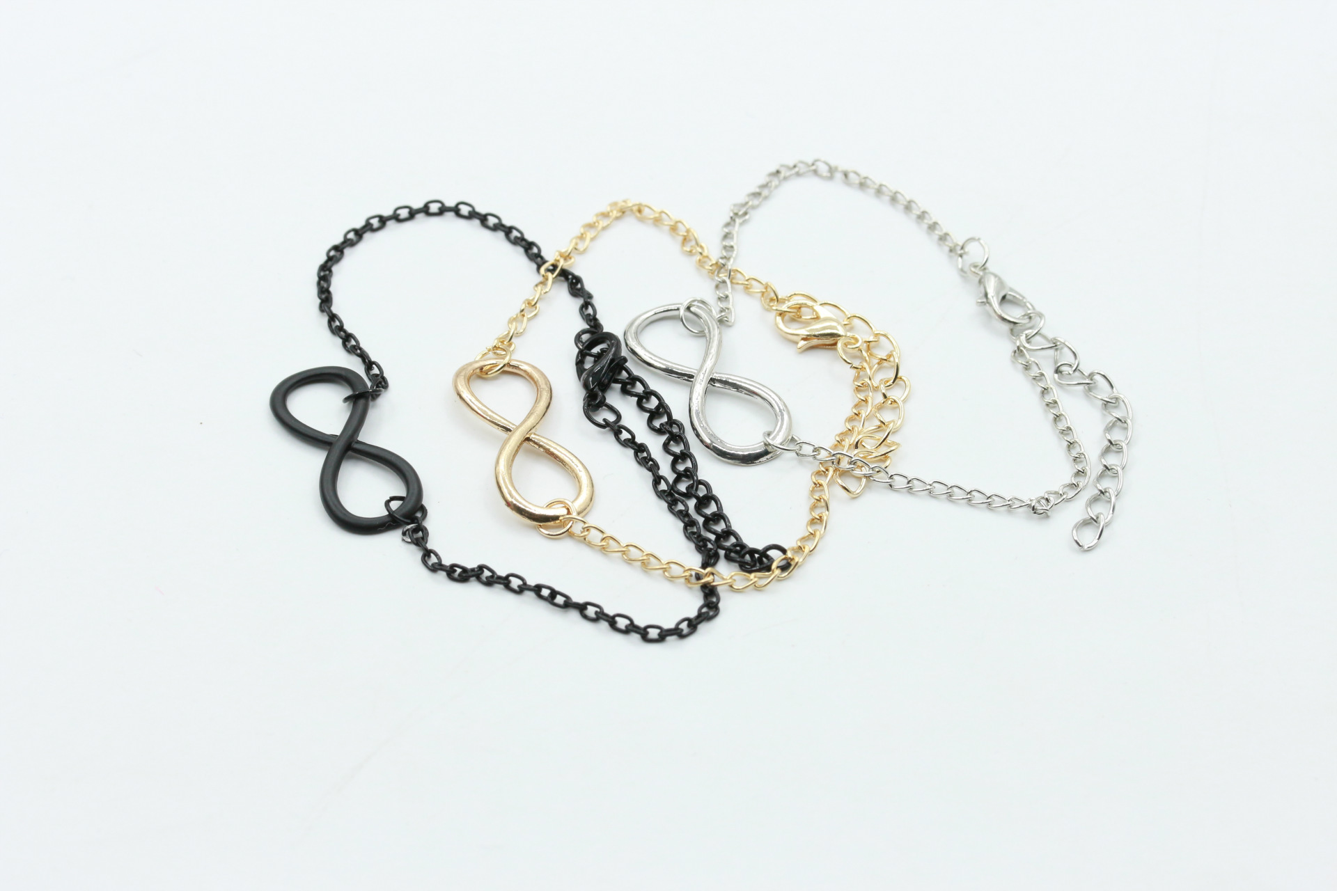 Number 8 word buckle alloy bracelet simple retro bracelet NHCU205065