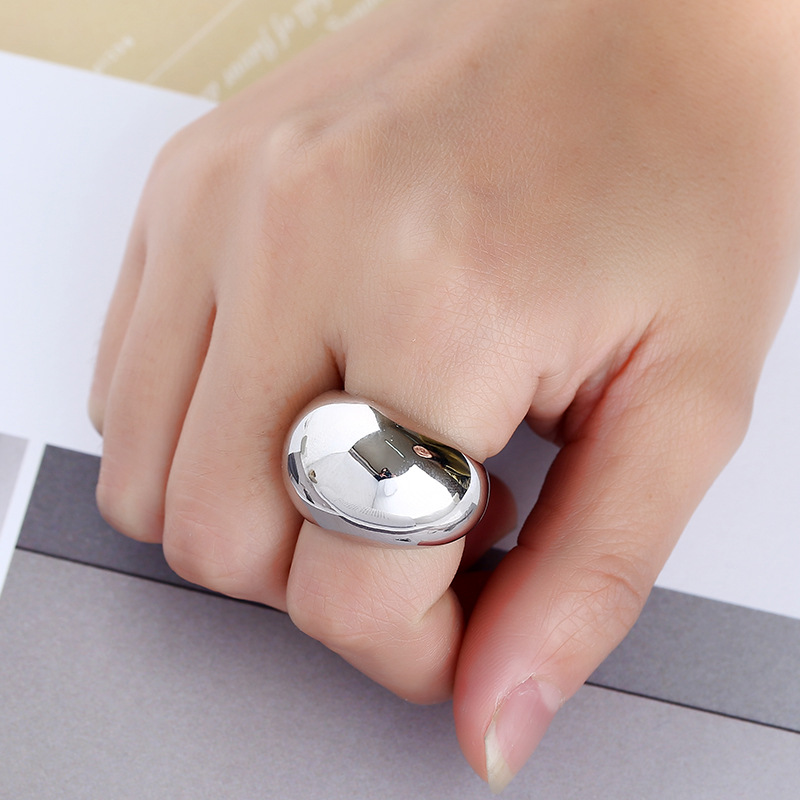 Fashion plating smooth texture personalized ring ring jewelry NHKQ187376