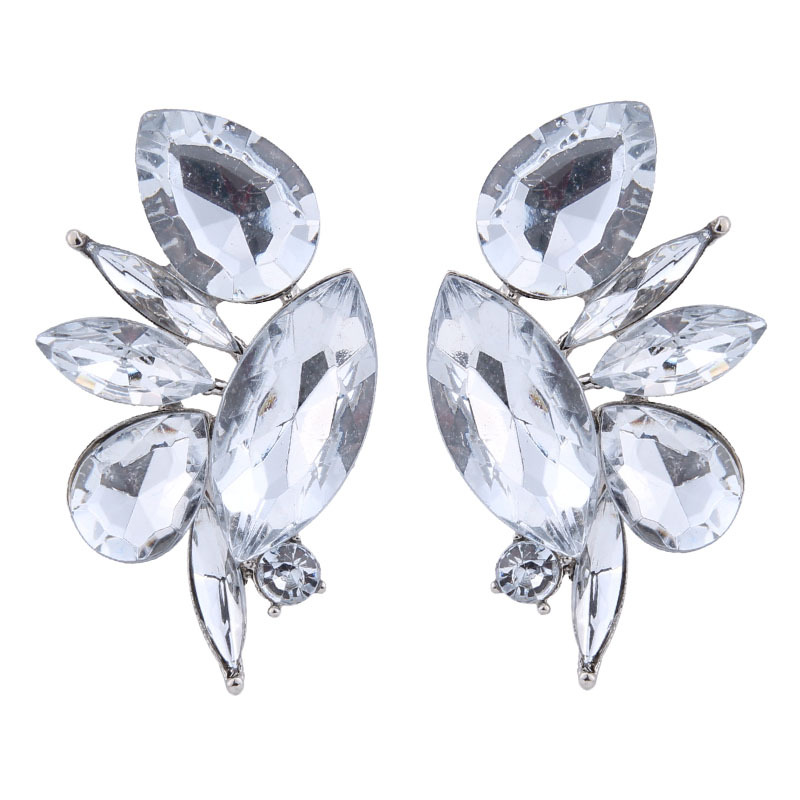Occident and the United States alloy Rhinestone earring AB color NHJQ7192