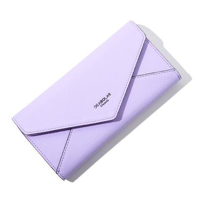 Ví mới Bà phần Dài Thời Trang Đơn Giản Hàn Quốc Chéo khóa Nhung Trifold Phong Bì Ladies wallet túi Xách Tay