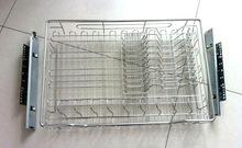 定做双层碗篮橱柜拉篮304不锈钢调味拉篮厨柜碗碟拉篮厨房厨柜
