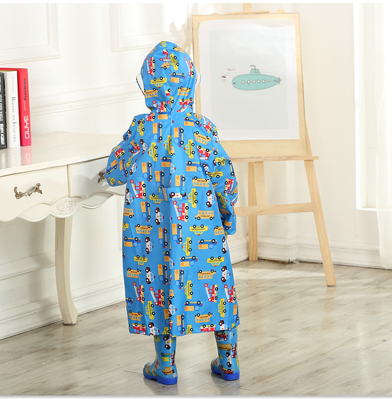 Toddler/Little Kids' cartoon Raincoat for Boys and Girls —— 3 Colors,Hooded,Have set 30