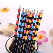 新款热卖带橡皮环保竹节椴木工艺铅笔小学生奖品礼品儿童文具批发