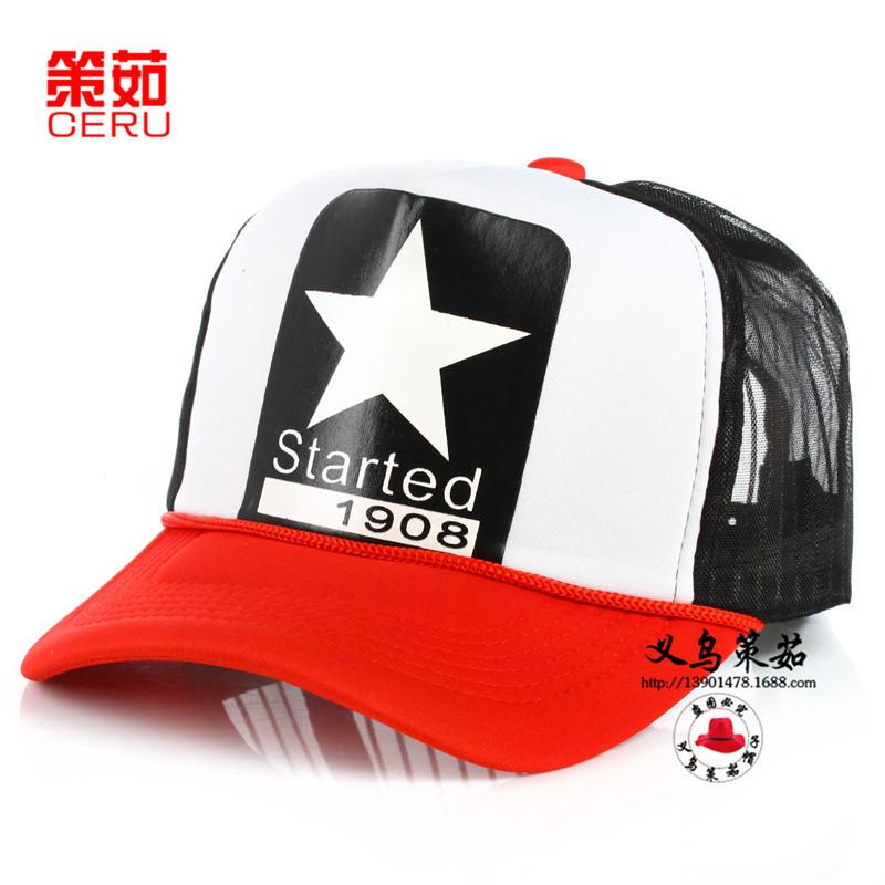 网帽货车帽五角星夏季太阳帽子 韩版潮 遮阳帽棒球帽子