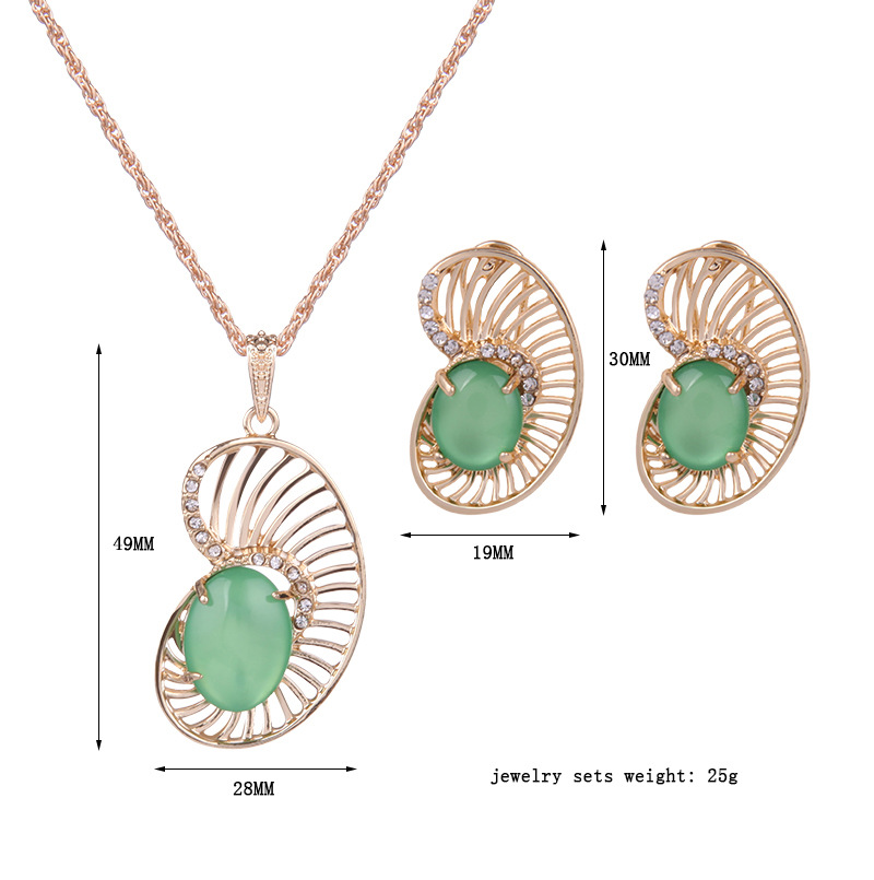 Occident and the United States alloy Diamond Jewelry Set (61152197)NHXS1432-61152197