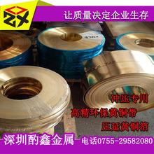 供应0.4/0.6/0.8mm镀镍黄铜带 拉丝/镜面黄铜带加工定制