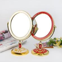 欧式台式化妆镜子 韩国单面梳妆镜 创意公主镜大号美容镜礼品批发