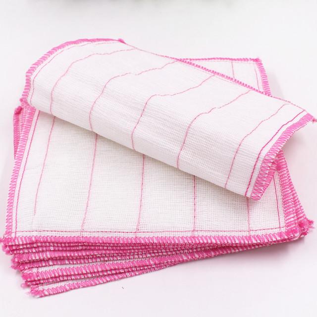 T Z3D03 厂家直销5层28*28木纤维洗碗巾不沾油夹棉抹布百洁洗碗布