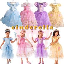 童装跨境 亚马逊2020夏款短袖主连衣裙女童万圣节表演服一件代发