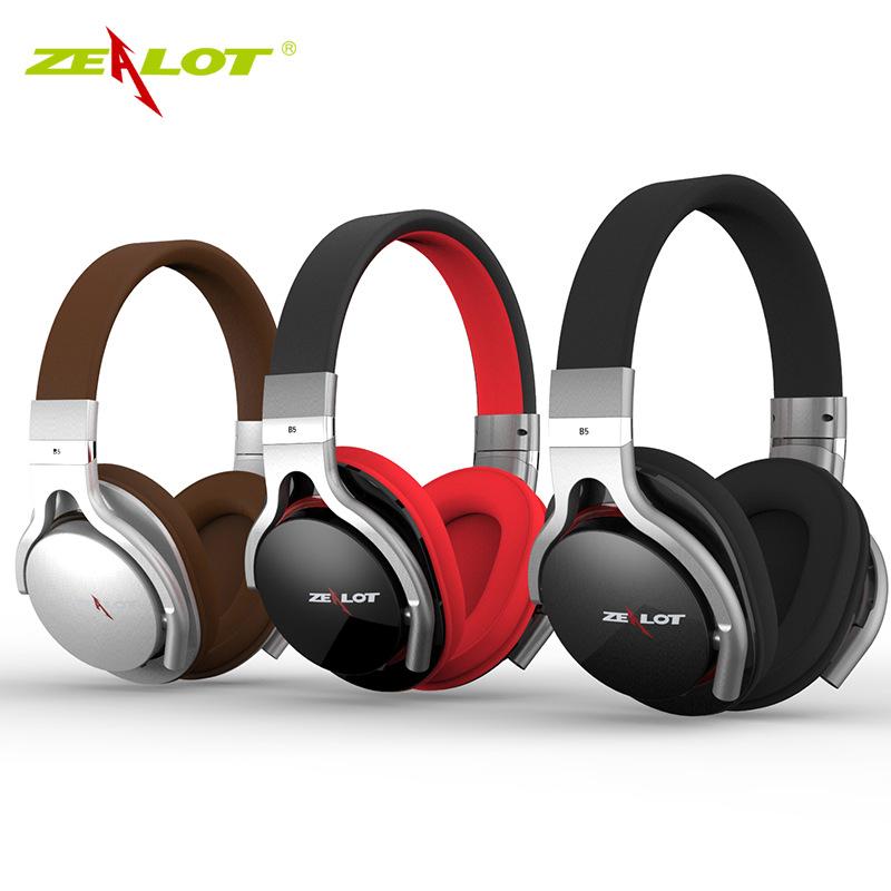 ZEALOT/狂热者 B5蓝牙耳机4.0头戴式立体声重低音无线插卡耳麦