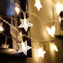 彩美藝LED彩燈裝飾戶外節日圣誕廠家批發定制LED磨砂五角星電池燈