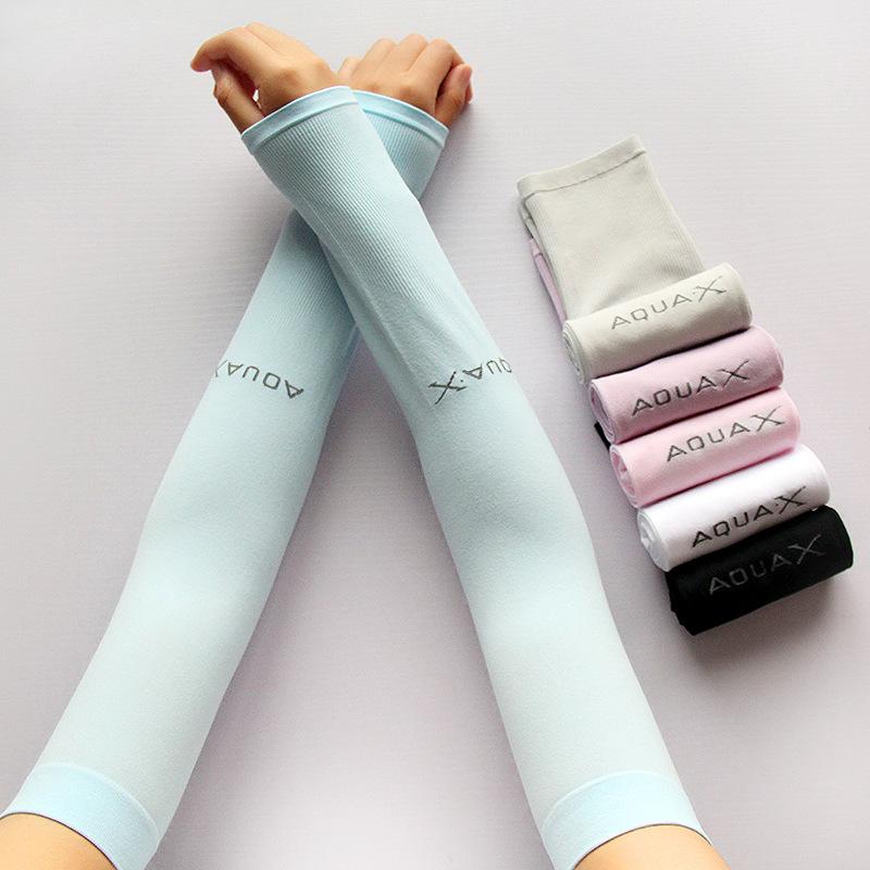 夏季韩版冰丝防晒手套女薄长款冰袖套防紫外线手臂套跑男同款批发