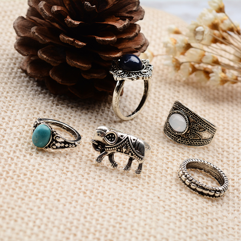 Alloy Vintage Geometric Rings(Main picture) NHGY1313-Main picture