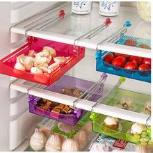 跨境专供 创意抽拉式冰箱置物盒塑料家居生活用品收纳箱置物架批
