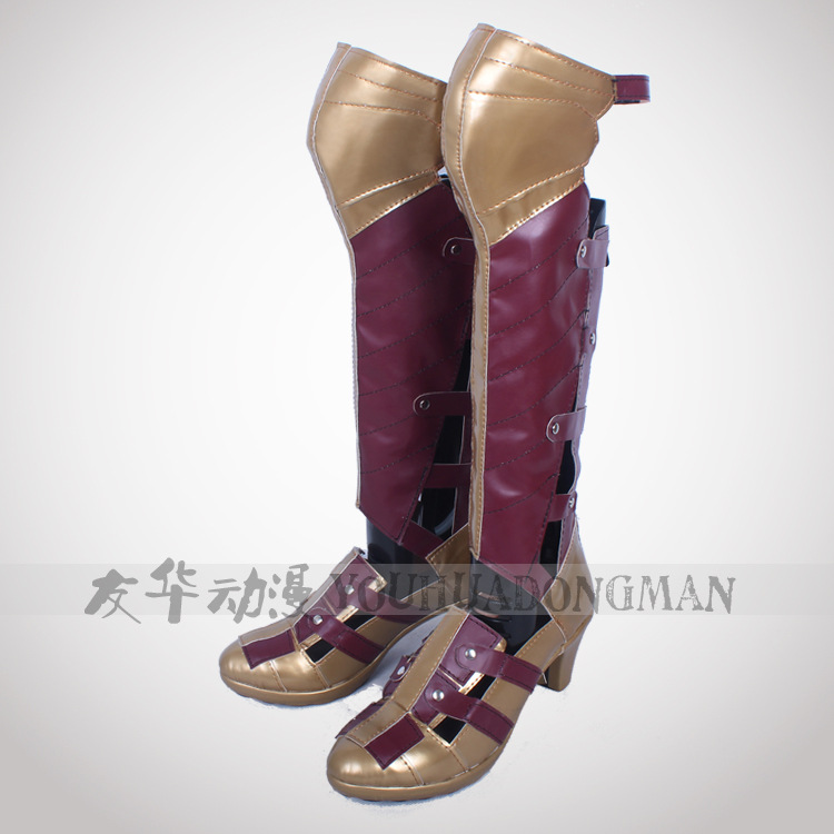 2018 Halloween Hot Sale Wonder Woman Cosplay Boots High -8196