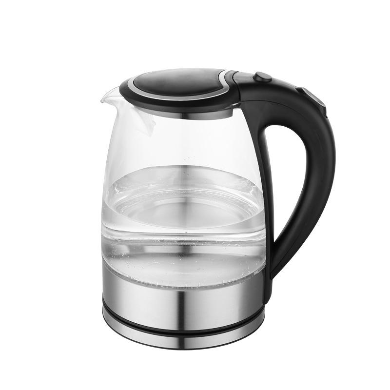 防爆高磞玻璃电热水壶 自动断电水壶 304#不锈钢发热盘 定制产品