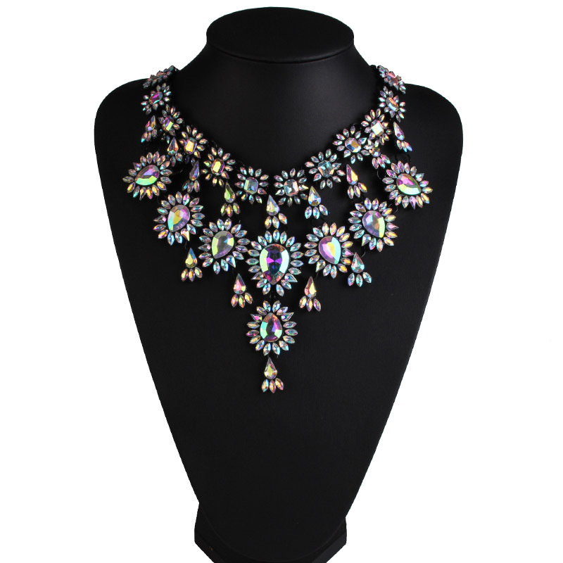 Occident alloy Geometric necklace  Photo Color  NHJQ5201