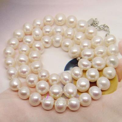养殖珍珠 淡水珍珠项链 简约旅游纪念8-9mm圆珠项链厂家批发