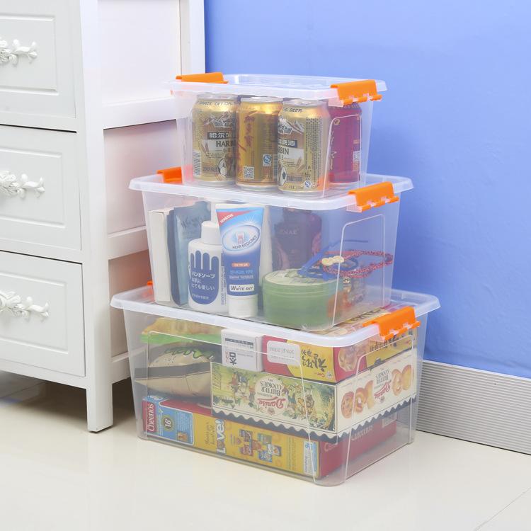 批发塑料收纳箱透明大号收纳盒车载储物箱卡通玩具整理箱厂家直销
