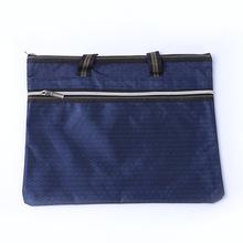 公文包拉鏈網格袋防水拉鏈袋資料袋足球紋牛津布袋印字會議辦公包