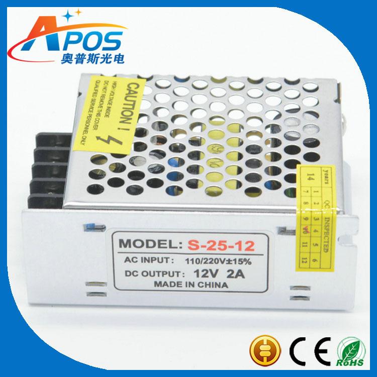 交流转直流12V 24W开关电源变压器 灯带专用铝壳电源适配器