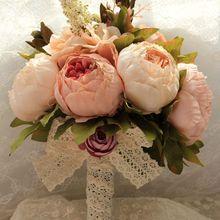 一手货源批发新娘伴娘婚礼手捧花仿真花 婚纱写真手捧花道具