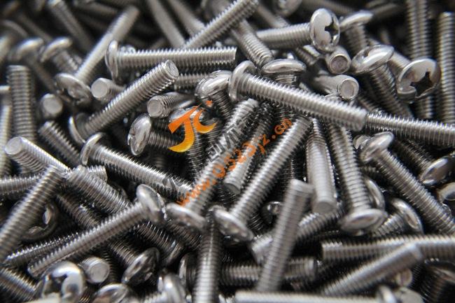 6mm十字圆头机牙螺丝 201不锈钢十字盘头螺钉 盘头螺丝GB818机钉
