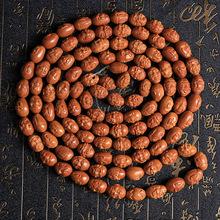 天然橄欖核純手工雕刻十八羅漢佛珠手串高油性橄欖核精雕文玩手鏈