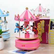 прямых производителей сувениров креативный подарок на день рождения музыкальная шкатулка Sky City карусели музыкальная шкатулка