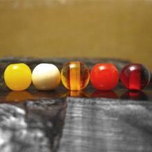 6mm項鏈手串念珠配件 文玩佛珠批發 仿天然蜜蠟琥珀散珠圓弟子珠