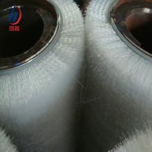 雙鋼帶不銹鋼輥芯氧化鋁磨料絲毛刷輥 銅板專用拋光清洗打蠟毛刷