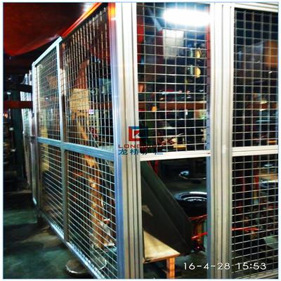 福州铝型材隔离网 工业铝材 防护网 车间 仓库 龙桥专业制造