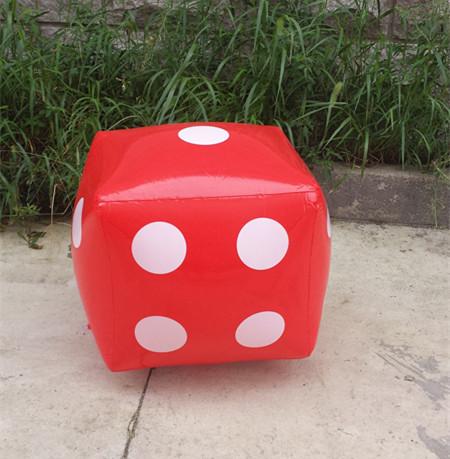 70厘米PVC充气玩具筛子游戏色子大骰子抽奖促销活动教学道具酒吧