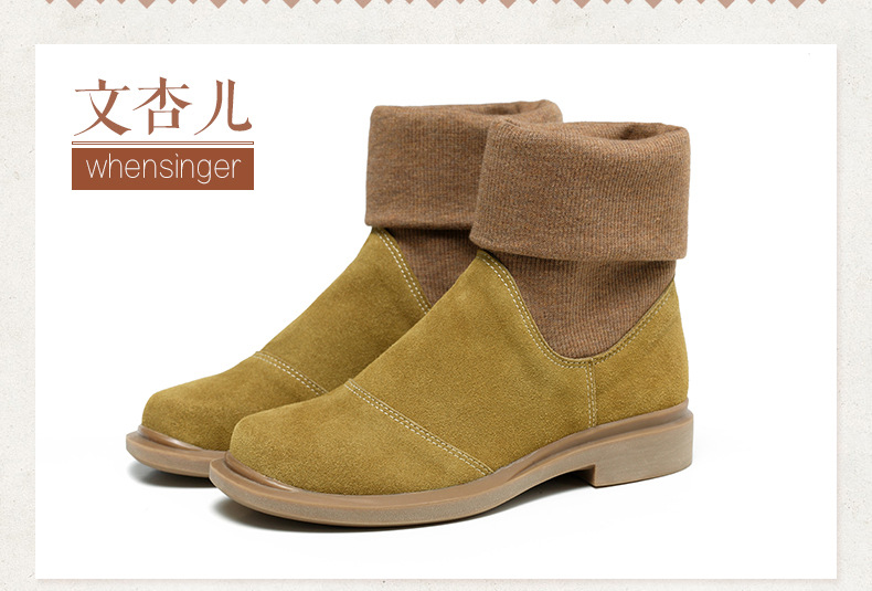 Women s Leather Ankle Boots Winter Shoes Rubber Shoes