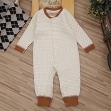 批发2019春夏婴儿棉衣宝宝哈衣保暖婴幼儿连体衣新款爬服一件代发