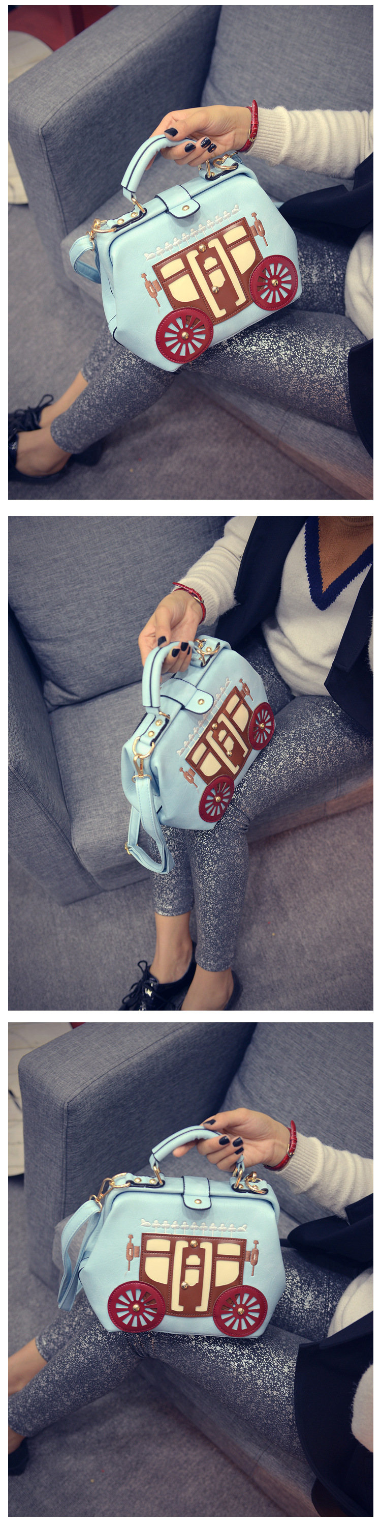 2017 Spring Women Bag Ladies Designer Handbags High Quality PU Leather Doctor Bags Women Messenger Bags Shoulder sac a main