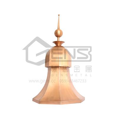 捷思(GENS)西班牙铜避雷针 别墅专用铜尖顶 室外屋面装饰铜尖顶